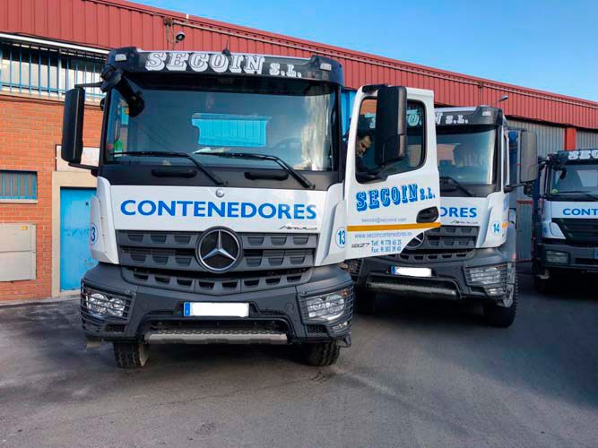Transporte de escombros en Madrid
